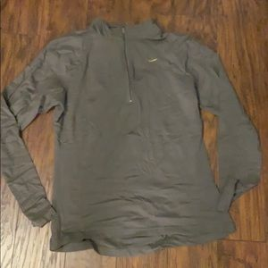 Nike Long Sleeve Running Shirt Olive Green